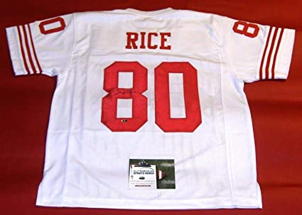 new product 68d3e f2784 JERRY RICE AUTOGRAPHED SAN FRANCISCO 49ERS JERSEY AASH at ...