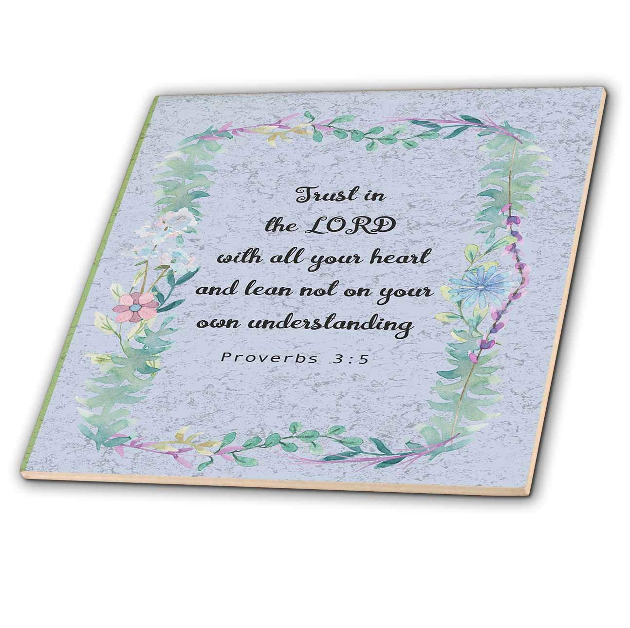 3dRose Made in The Highlands - Art- Proverbs 3 Inspirational Bible Quote - Bible Quote from Proverbs on Graphic Background - 6 Inch Ceramic Tile (ct_304469_2)
