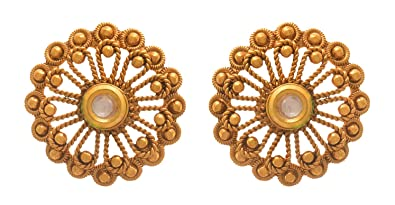 8ebfa6be0 Buy JFL - Traditional Ethnic One Gram Gold Plated Designer Stud Earring for  Women & Girls Online at Low Prices in India | Amazon Jewellery Store -  Amazon.in