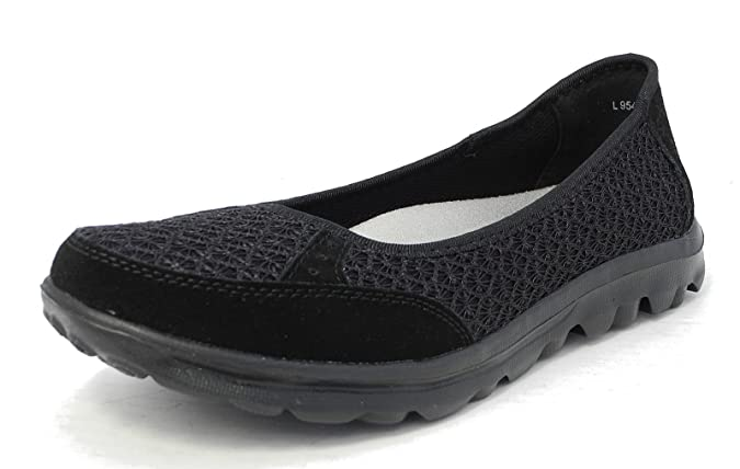 Womens Ladies Lightweight Leather Mesh Shoes Pumps Removable Memory Foam Insoles Sizes 3 9 B01N7ZUJC7