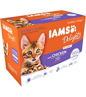 IAMS Delights Kitten & Junior with Chicken In Gravy Comida para Gatos - 1020 gr