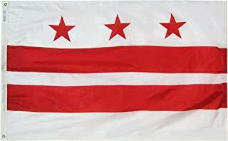 product image for Annin Flagmakers Model 146470 Territory: District of Columbia Flag 4x6 ft. Nylon SolarGuard Nyl-Glo 100% Made in USA to Official Design Specifications.