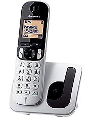 Panasonic KX-TGC210 - Teléfono fijo inalámbrico (LCD, identificador de llamadas, agenda de 50 números, tecla de navegación, modo ECO, reducción de ruido), color plata