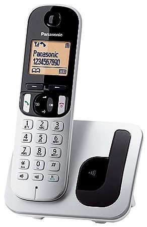 Panasonic KX-TGC210 - Teléfono fijo inalámbrico (LCD, identificador de llamadas, agenda de 50 números, tecla de navegación, modo ECO, reducción de ...