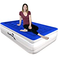 EnerPlex Premium Dual Pump Luxury Twin Size Air Mattress Airbed with Built in Pump Raised Double High Twin Blow Up Bed…