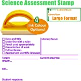 Science Marking, Feedback and Student Response Teacher Stamp - Large Stamp (6x11cm) (Purple Ink)