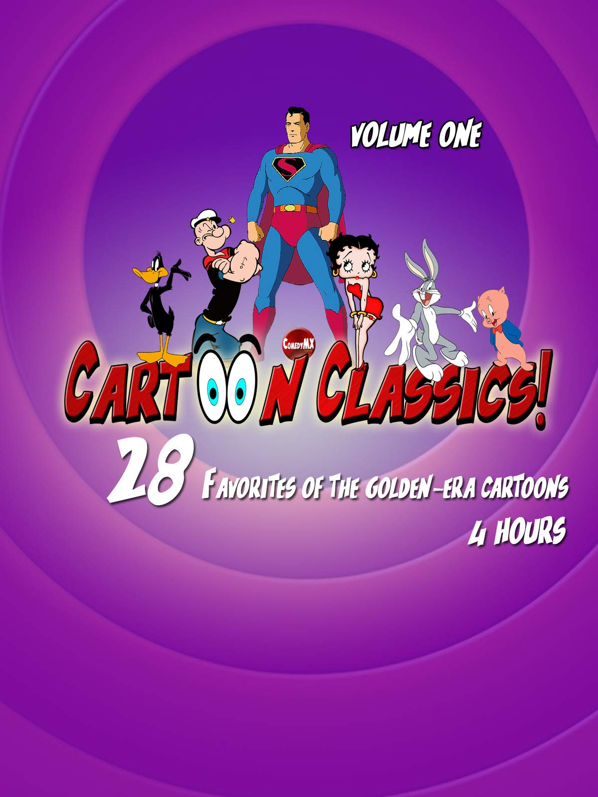 Cartoon Classics - 28 Favorites of The Golden-Era Cartoons - Vol 1: 4 Hours