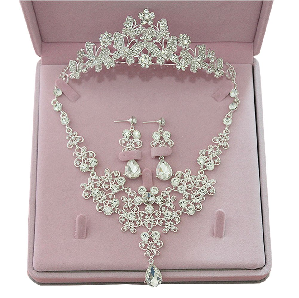 Suzhou Laidisi Tiaras and Earrings Crowns Wedding Sets Bride Hair accessories A