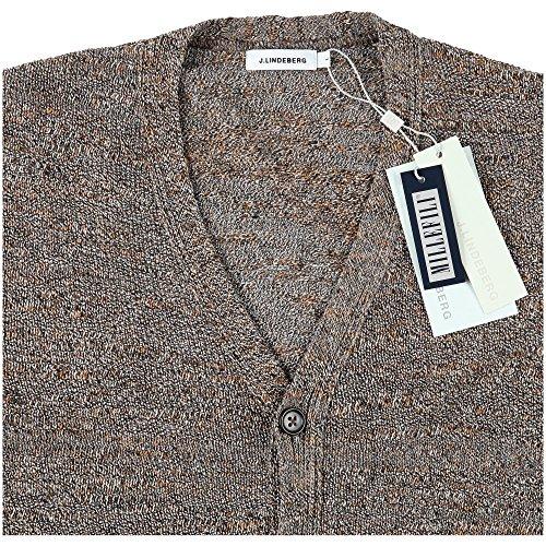 J. Lindeberg Herren Bruno Seventies Knit Cardigan Brown Rust