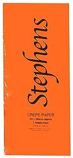 Stephens 3 x 500 mm di carta crespa, colore: arancione
