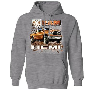 16254045629 Dodge Ram Hemi 2500 Pickup Truck Officially Licensed Mens Hoodie Sweatshirt  (Athletic Gray