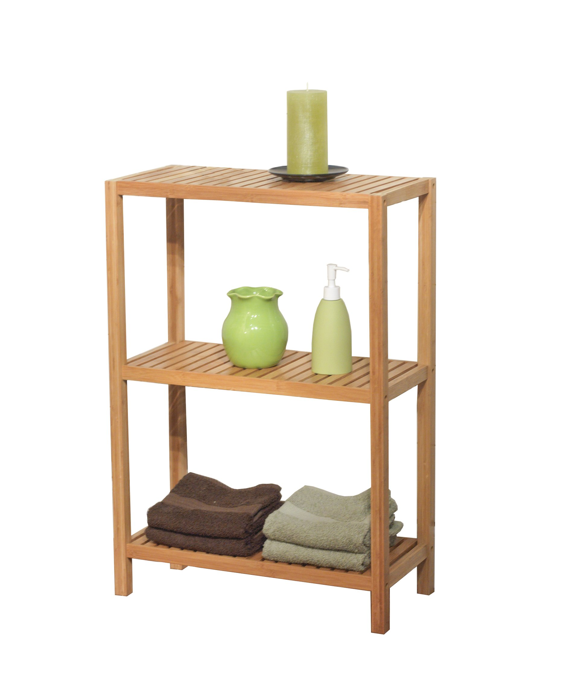 Target Marketing Systems 23023NAT Bamboo Shelf Bathroom Shelf, Bamboo