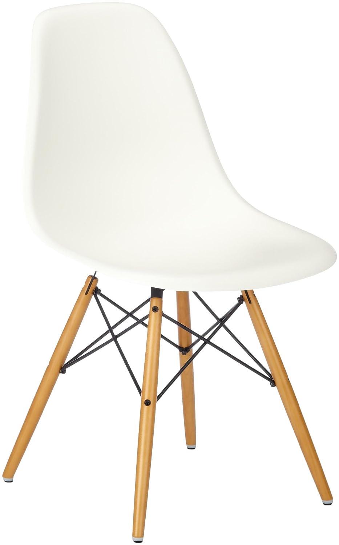 Fantastisch Vitra Eames Plastic Side Chair DSW Untergestell Ahorn Gelblich/Sitzschale  Weiß 440023000204: Amazon.de: Küche U0026 Haushalt