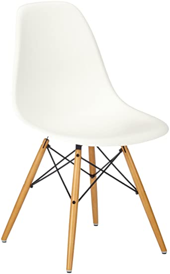 Vitra Stuhle vitra eames plastic side chair dsw untergestell ahorn gelblich