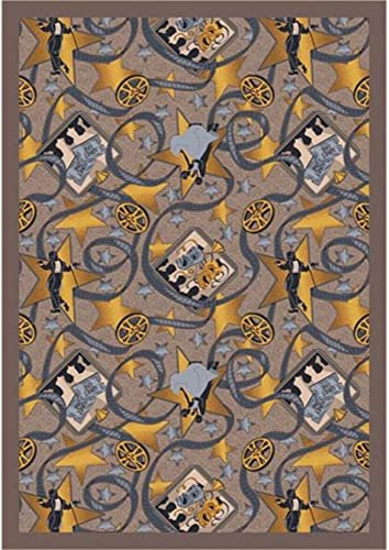 Joy Carpets Any Day Matinee Silver Screen Theater Area Rugs, 129-Inch by 158-Inch by 0.36-Inch, Taupe