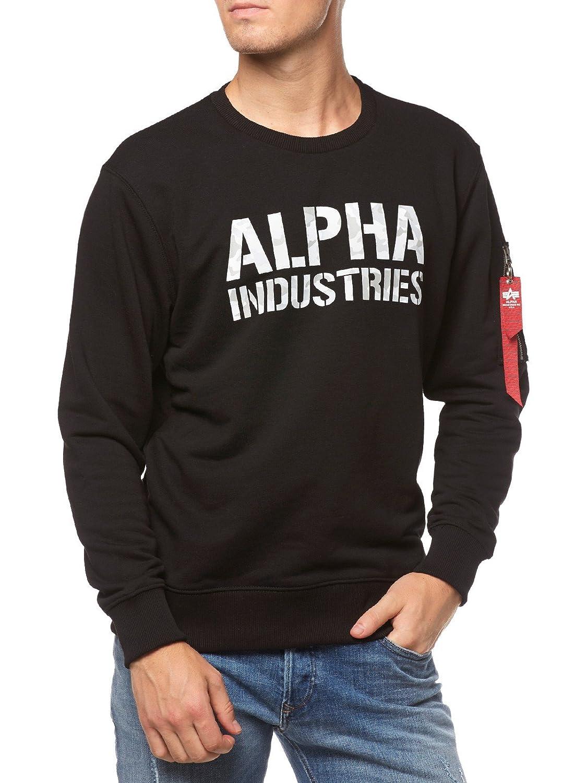 Alpha Industries Camo Print Sweatshirt Schwarz Weiß XL