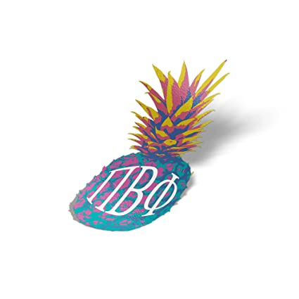 pi beta phi pop art pineapple sticker 5 inch tall sorority decal greek letter for window