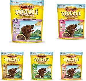 Zuke'S Mini Naturals Healthy Moist Dog Treats Variety Pack - 6 Flavors (Roasted Pork, Wild Rabbit, Roasted Chicken, Delicious Duck, Savory Salmon, & Fresh Peanut Butter) - 6 Oz Each