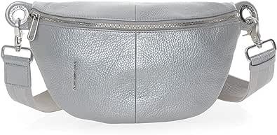 Mandarina Duck Mellow Lux Bum Bag, Bolsa de mensajero para Mujer, Plateado (Silver), 10x16x30 Centimeters (W x H x L)