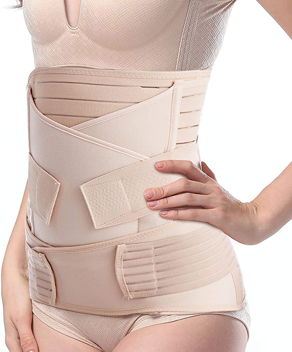 TiRain 3 in 1 Postpartum Belly Support Recovery Belly/Waist/Pelvis Belt Postpartum Belly Wrap Band at  Women's Clothing store
