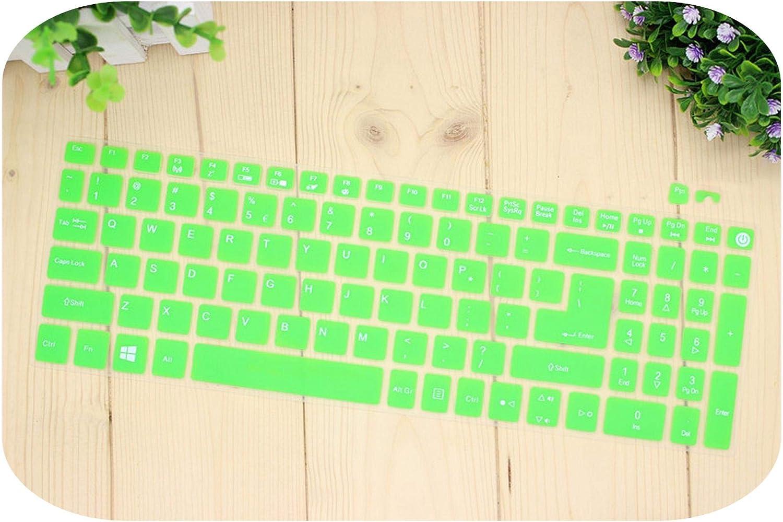 15.6 Inch Silicone Keyboard Cover for Acer Aspire E15 E 15 E5 576 E5576 V3 V15 E5 553G/575G / Aspire 3 5 7 Series-Green-