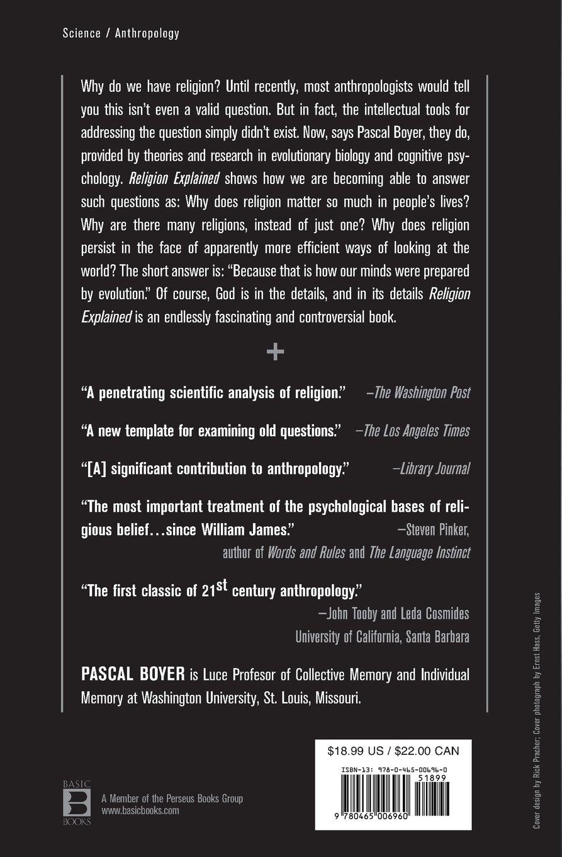 Amazon.com: Religion Explained: The Evolutionary Origins of Religious  Thought (9780465006960): Pascal Boyer: Books