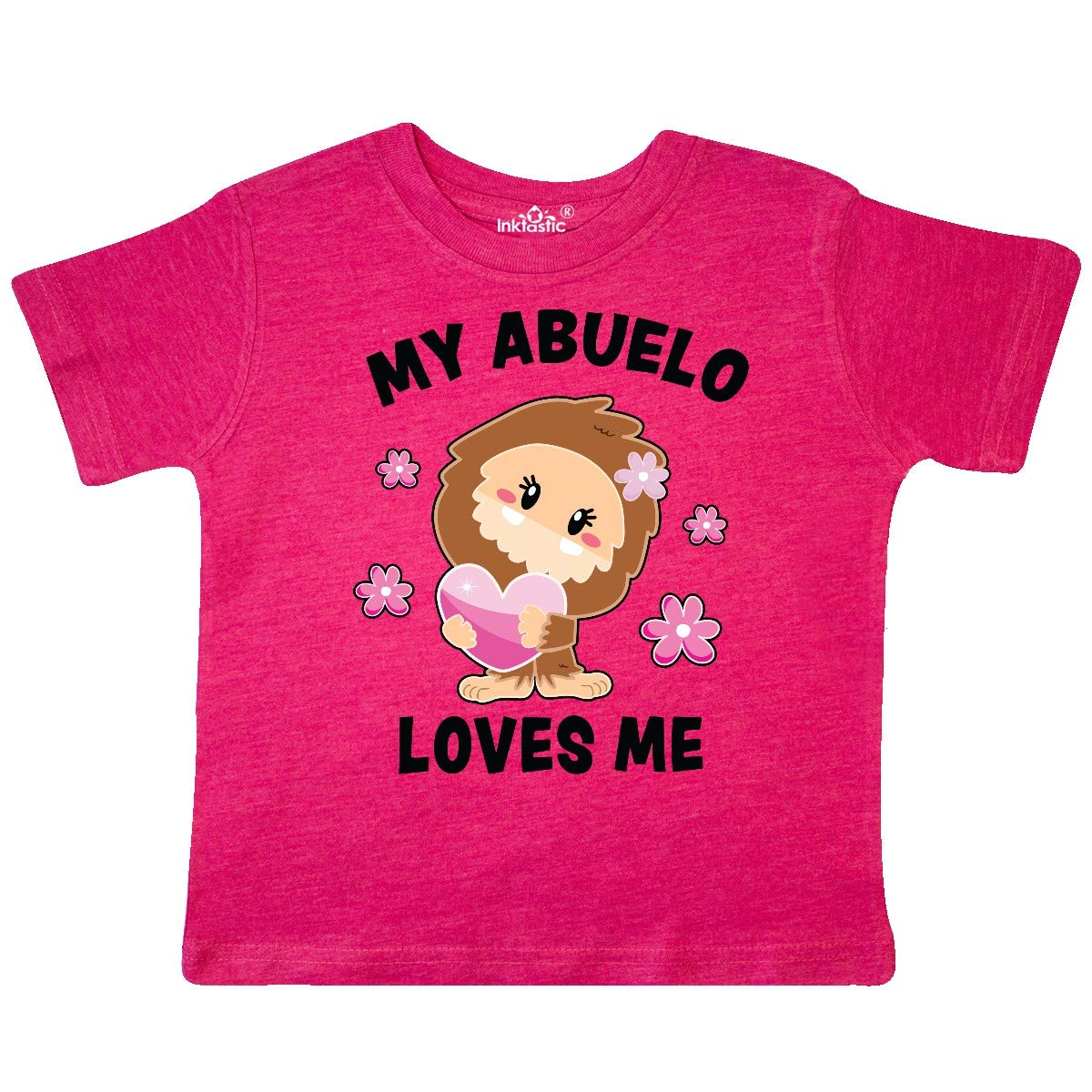 inktastic My Abuelo Loves Me with Bigfoot Toddler T-Shirt