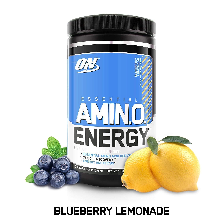 Optimum Nutrition Essential Amino Energy, Blueberry Lemonade, Keto Friendly Essential Amino Acids, 30 Servings, 9.5 Ounce (1 Count)