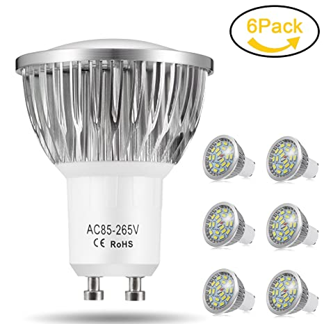 Bombillas LED GU10, 7W 18 x 5730 SMD Lámpara LED, Equivalente a 60Watt Lámpara