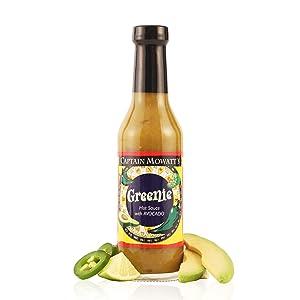 CAPTAIN MOWATTS Greenie Hot Sauce, 8 OZ
