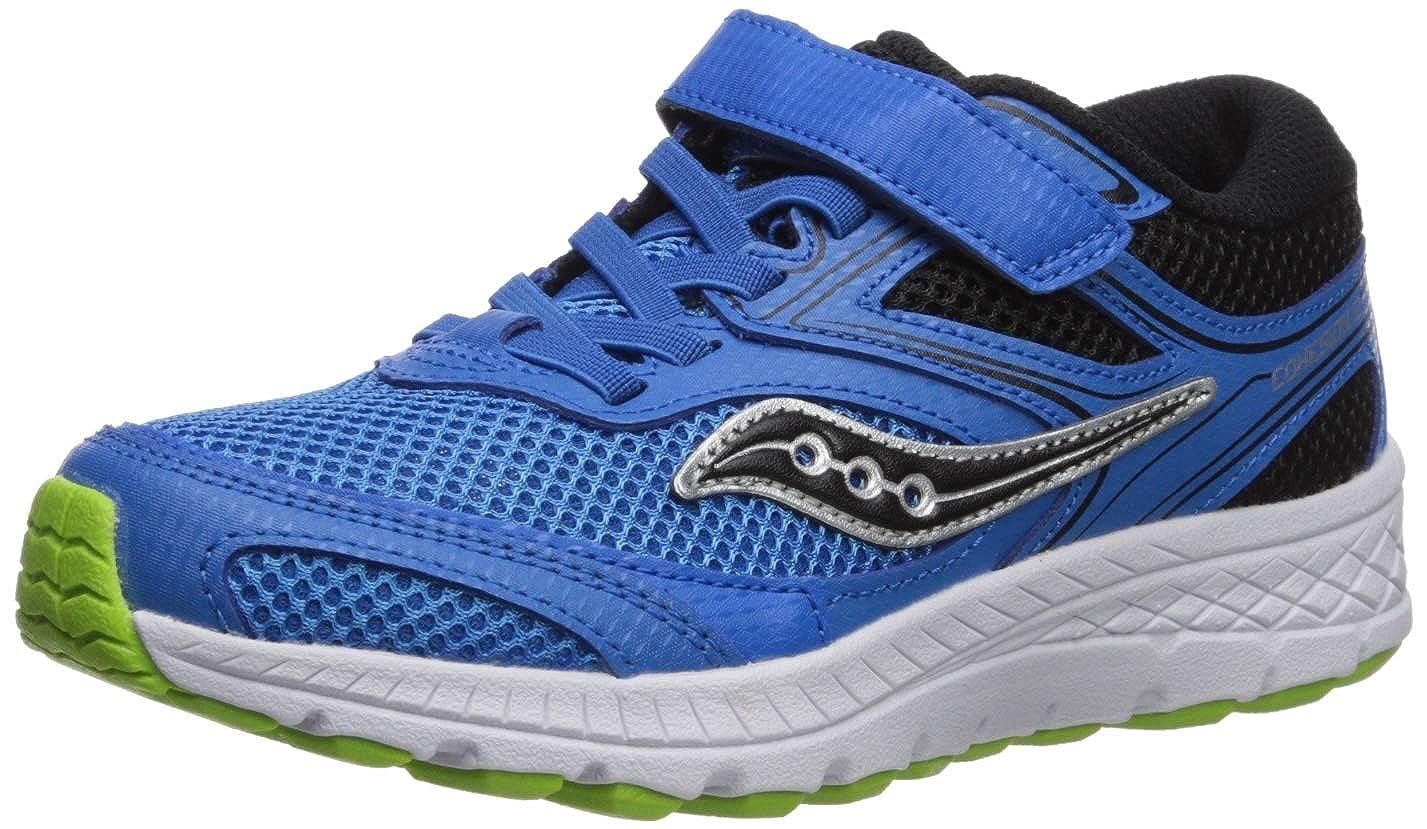 27ea3007 Saucony Boys' Cohesion 12 A/C Sneaker, Blue/Black, 135 Wide US Little Kid
