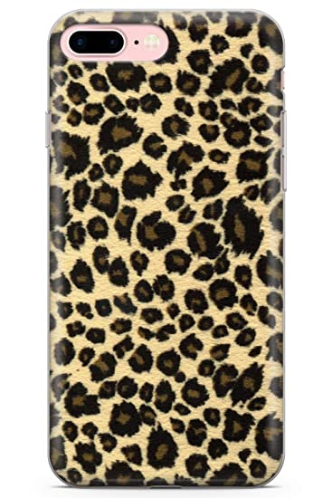 reputable site 4f9ee dfe04 Case Warehouse iPhone 7 Plus Case, iPhone 8 Plus Case, Rar Leopard Print  Brown Phone Case Clear Ultra Thin Lightweight Gel Silicon TPU Protective ...