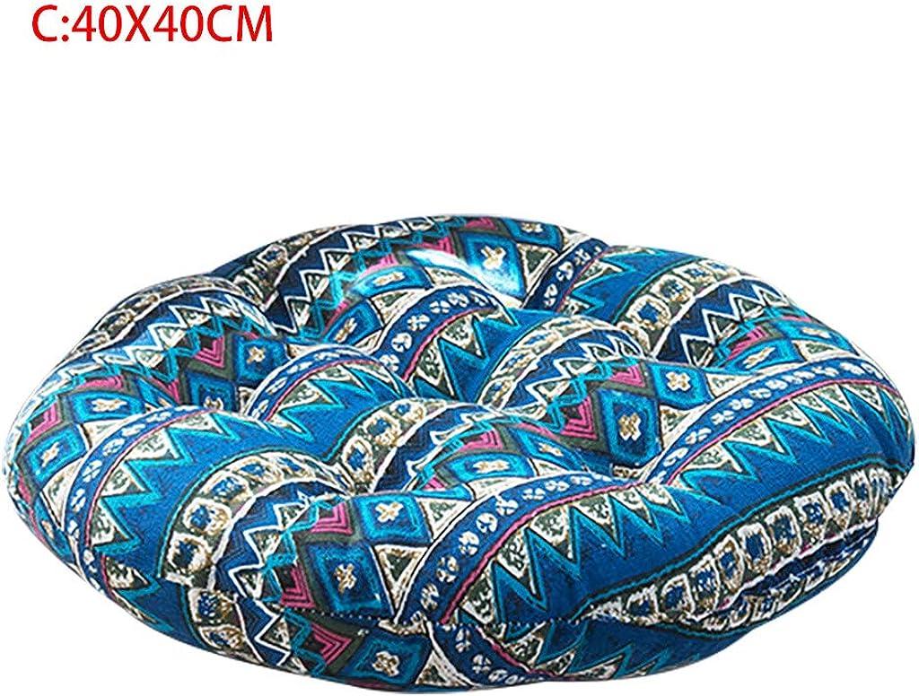 Cuscino per Sedia Cuscino Rotondo in Cotone Cuscino Imbottito Morbido Cuscino per Ufficio o per seggiolino Auto per Ufficio a casa Esterno