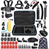 VanTop 59 in 1 Accessories Kit for GoPro Hero7 6 5 4 3+ 3 2 1, Hero Session, GoPro Fusion, AKASO, APEMAN, Lightdow…