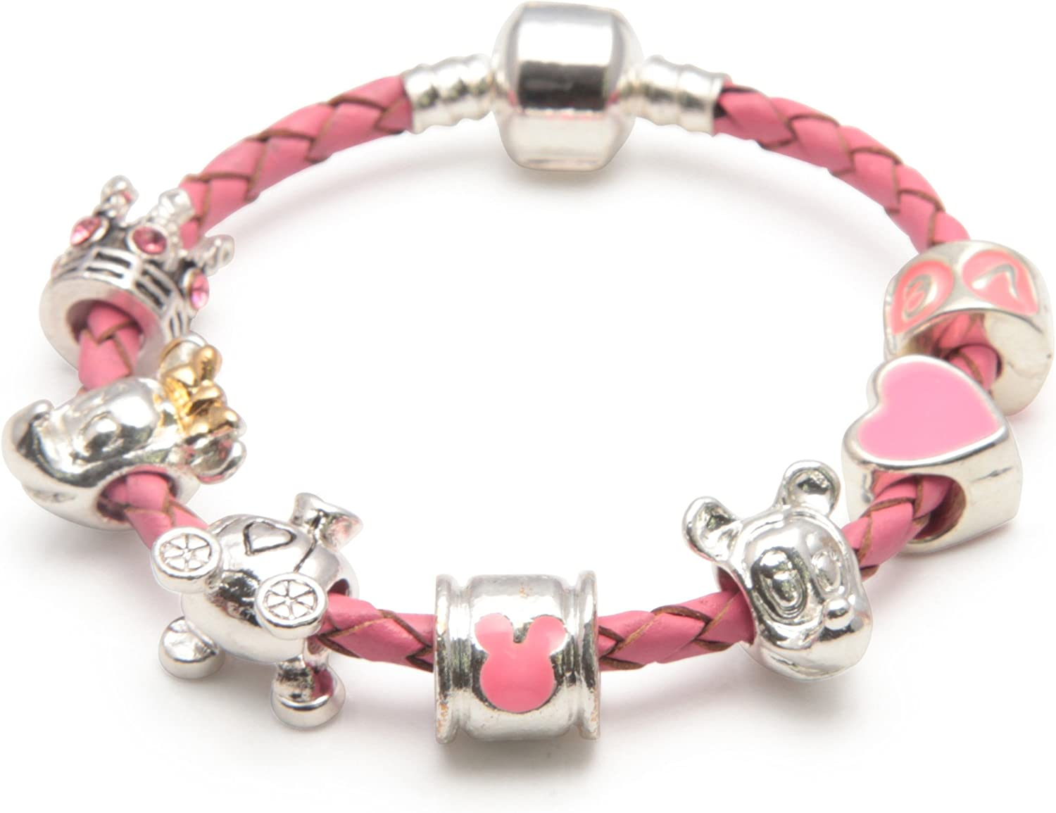 LITTLE GIRLS Silver Plated NECKLACE Children Pink BUTTERFLY Rhinestone Gift