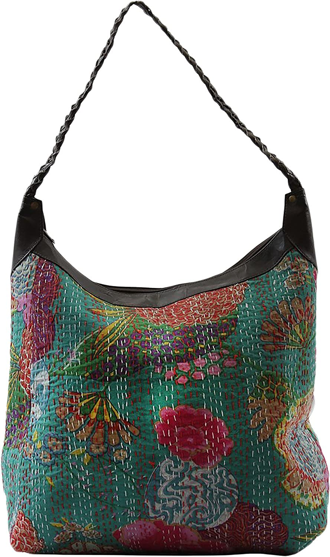 JTH Royal Pineapple Kantha Women Handbag Ethnic Multicolored Shoulder bag