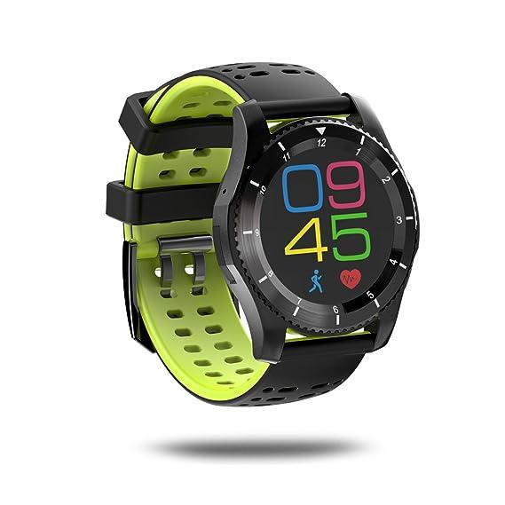 Reloj de Pulsera GS8 Bluetooth Smart Watch con GPS Monitor de frecuencia cardíaca Podómetro Soporte SIM Card para iOS Teléfono Android Ropa de joyería: ...
