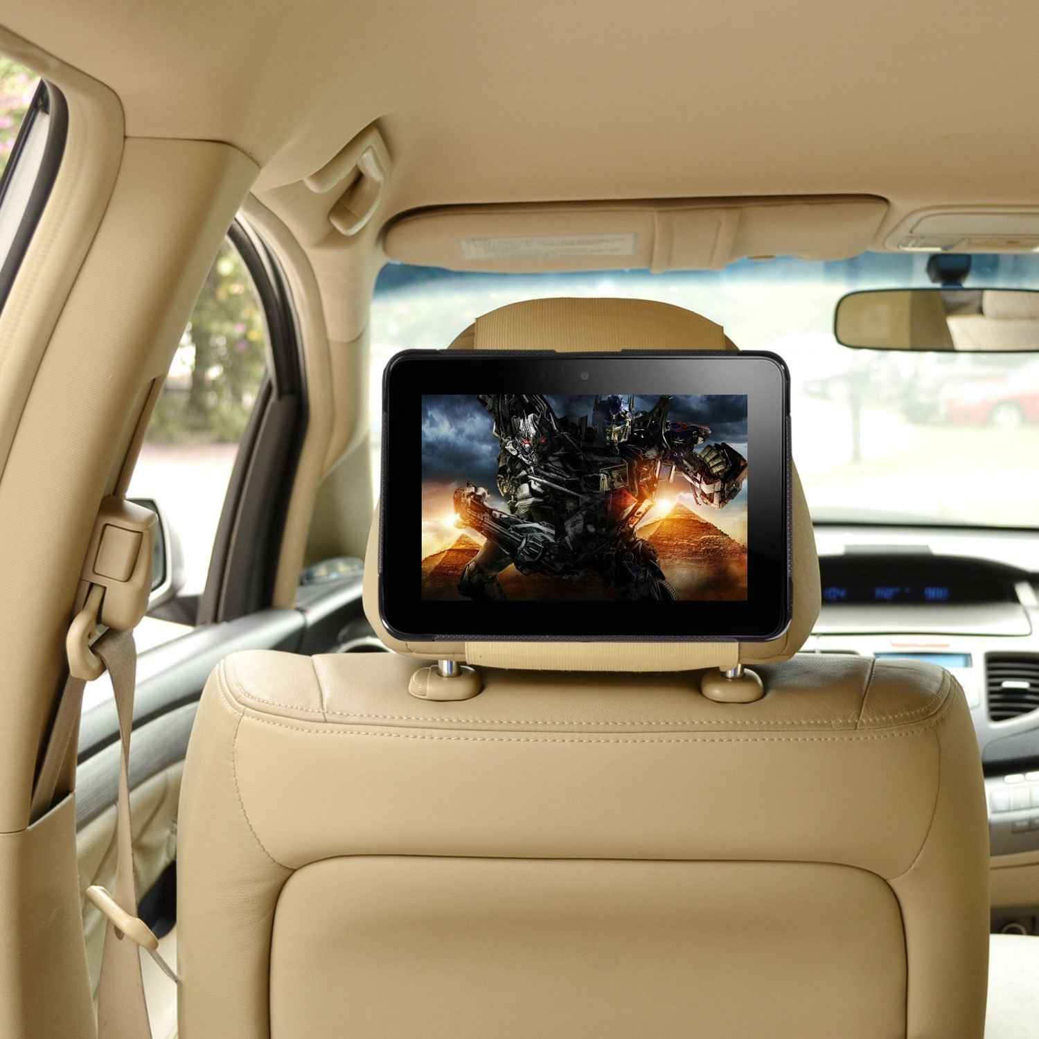 TFY Car Headrest Mount Holder for Kindle Fire HD 8 Fast-Attach Fast-Release Edition Black 2015 Version
