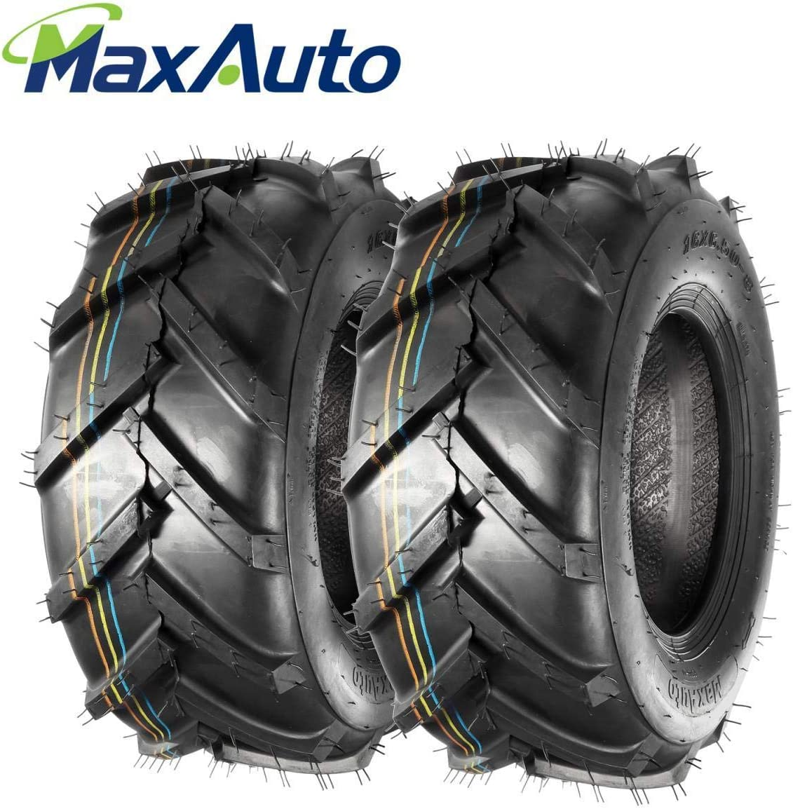 MaxAuto Super Lug Lawn /& Garden Tire 16x6.50-8 4PR