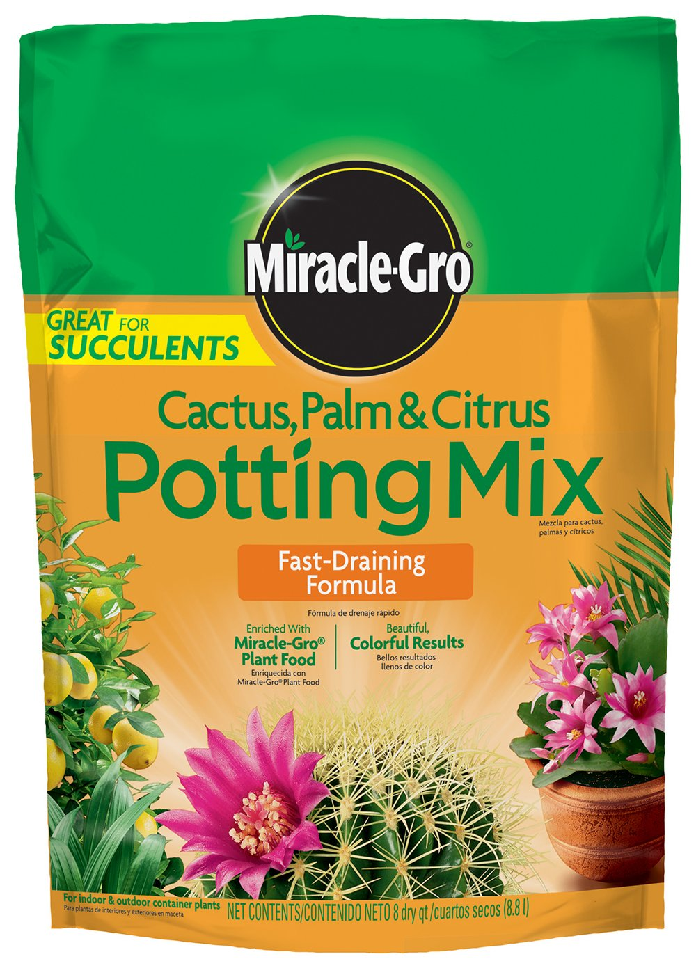 Miracle-Gro Cactus Palm and Citrus Potting Mix, 8-Quart (currently ships to select Northeastern & Midwestern states)