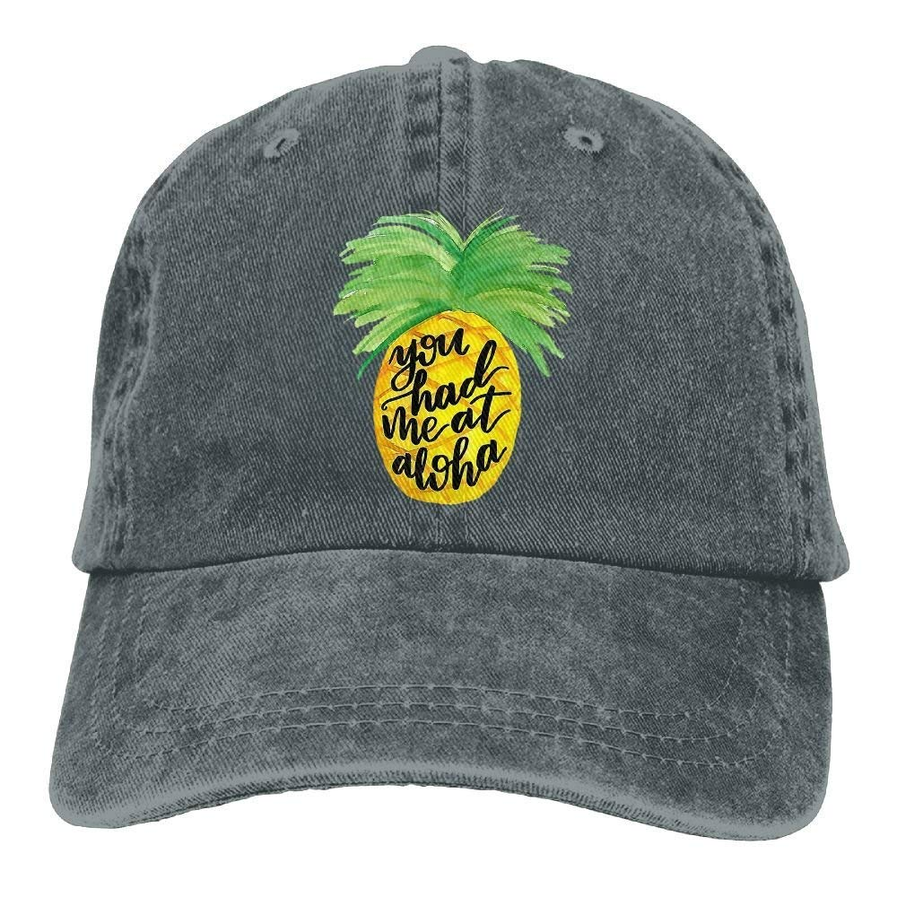 Aloha Pineapple Unisex Denim Baseball Cap Adjustable Snapback Hats