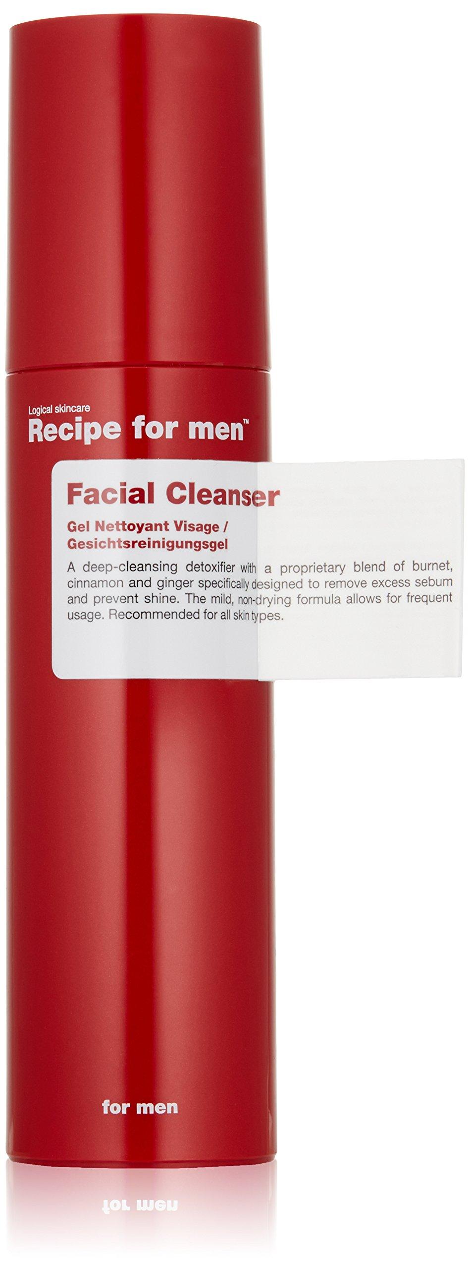 Recipe for Men Facial Cleanser, 3.4 fl. oz.