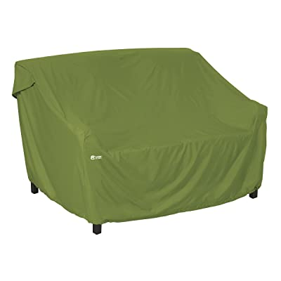 Classic Accessories 55-359-021901-EC Sodo Patio/Outdoor Sofa/Loveseat Cover, Small, Herb: Garden & Outdoor
