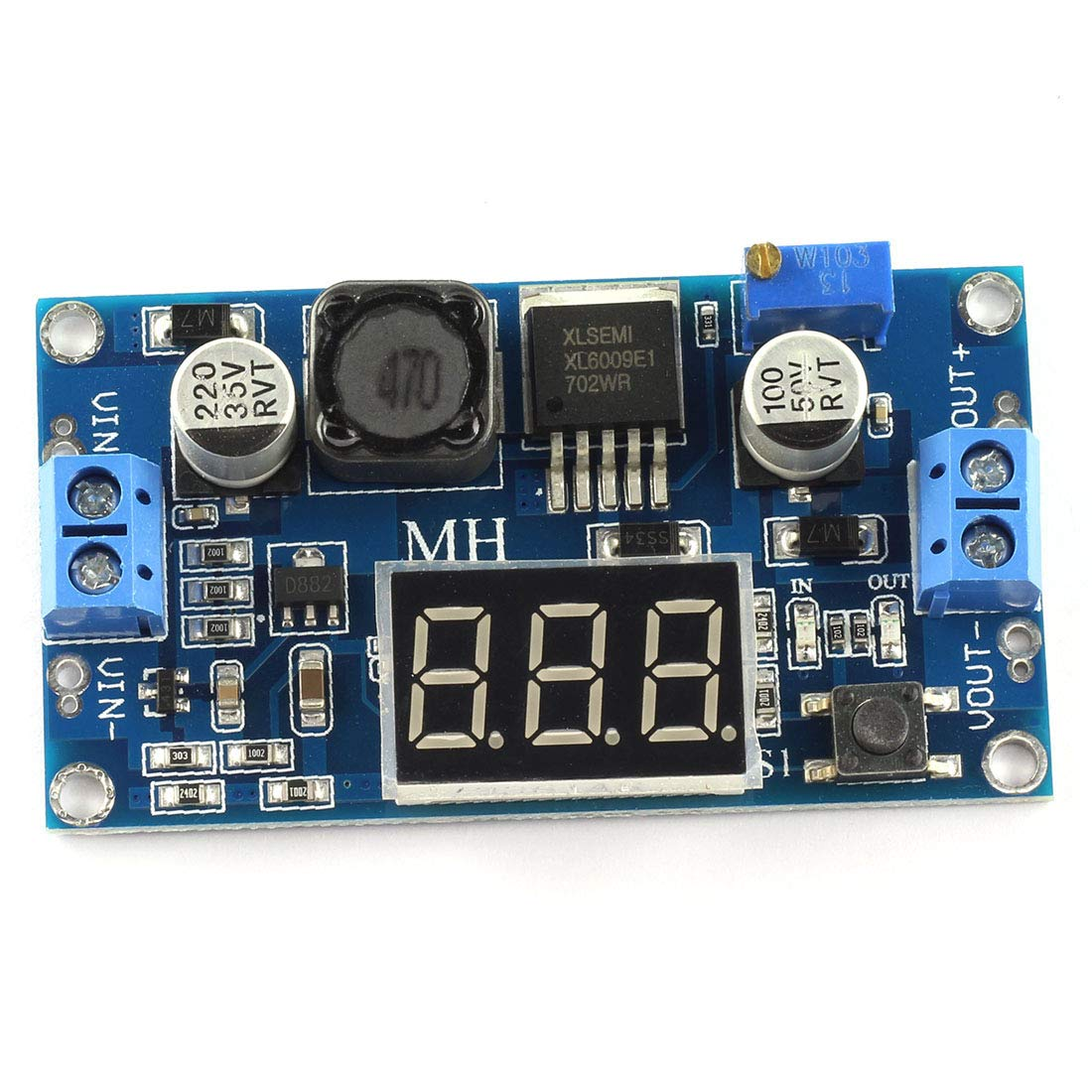 Dzs Elec Xl6009 Dc Booster Regulator Module Input 3 32v To Output Step Up 4a 5 35v Instead Of Lm2577 With Digital Tube Display