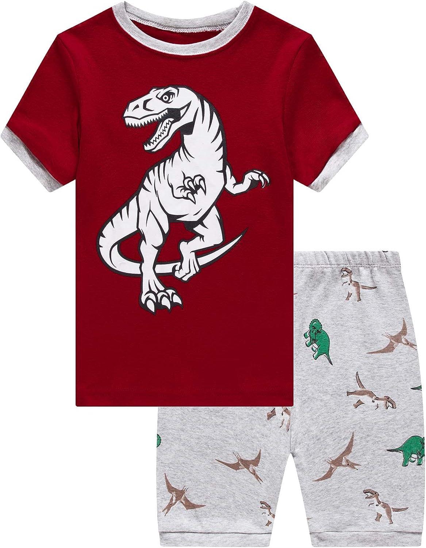 Dolphin/&Fish Boys Pajamas 100/% Cotton Short Sleeve Toddler Pjs Set Kids Sleepwear