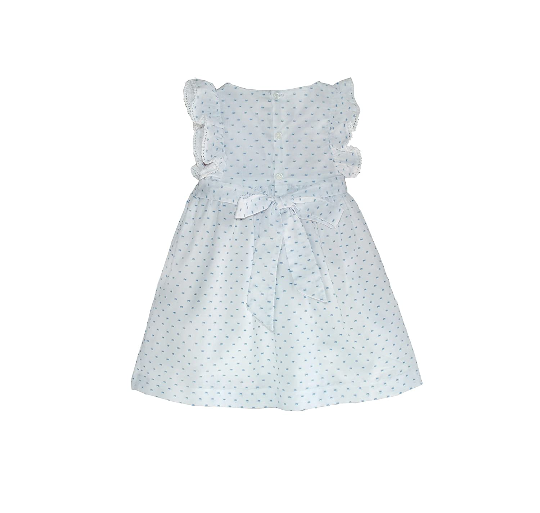 Amazon.com: Pin Dot Smocked Angel-Sleeve Dress - Infant, Toddler ...