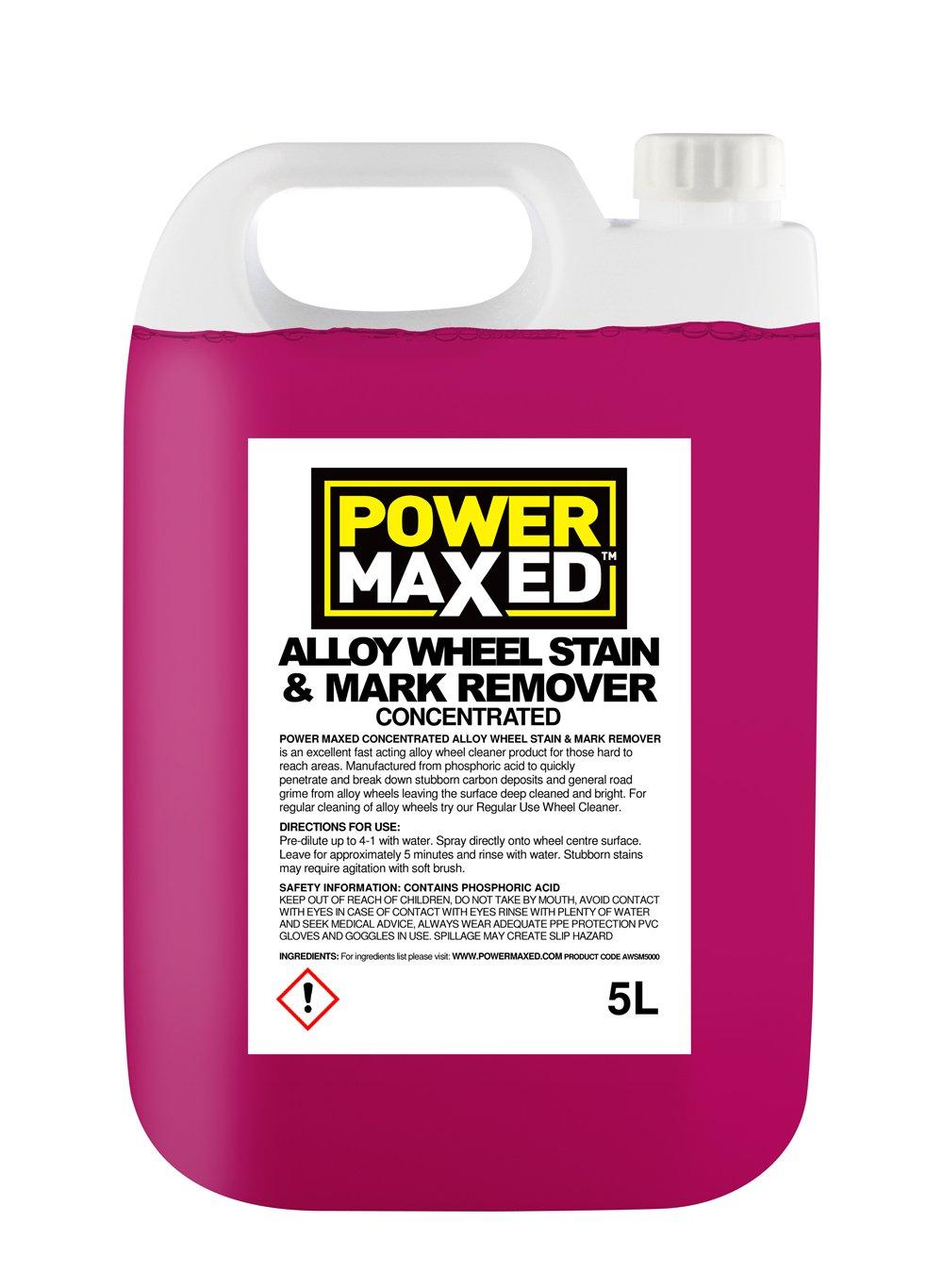 Power Maxed AWSM5000 Liquide concentré pour effacer les marques et taches sur les jantes en alliage 5L