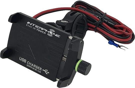 Soporte Tel/éfono m/óvil//Smartphone, Motocicleta, Negro, Soporte pasivo, USB, 5 V Cellularline Moto Crab EVO USB Motocicleta Negro