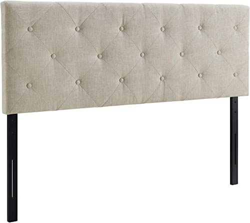 Modway Terisa Upholstered Fabric Button Tufted Full Headboard Size