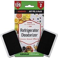 Fridge, Refrigerator and Freezer Deodorizer PATCH | DISCRETE Organic Odor Eliminator | Tough Smell Remover | BEATS…